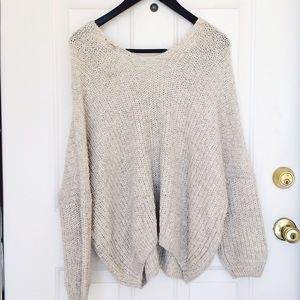 Press Oatmeal Color Sweater